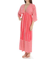 Natori Sleepwear Portofino Printed Jersey Long Lounger Y73192