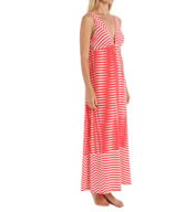 Natori Sleepwear Portofino Printed Jersey Sleeveless Nightgown Y73292