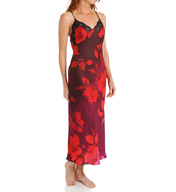 Natori Sleepwear Sophia Printed Gown with Lace Z73179