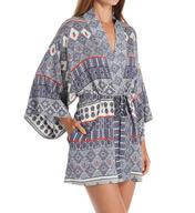 Natori Sleepwear Kapi Printed Chiffon Kimono Robe Z74054