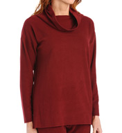Natori Sleepwear Brushed Knit Long Sleeve Top Z75133