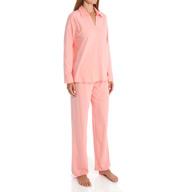 Natori Sleepwear Pima Paradise Cotton Longsleeve Pajama Set Z76453