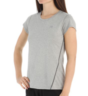 New Balance Heathered Short Sleeve Top WFT5197