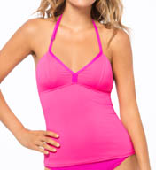 Oakley Solids Halter Tankini Swim Top 581950