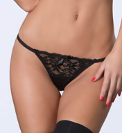Oh La La Cheri Open Back Tanga with Lace 3128
