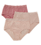 Olga Without A Stitch Lace Brief Panty - 3 Pack 23367J
