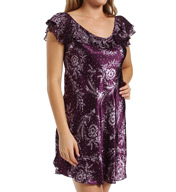Oscar De La Renta Shadow Eclipse Cap Sleeve Chemise 683672
