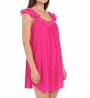 Oscar De La Renta Lipstick Cap Sleeve Short Gown 683762