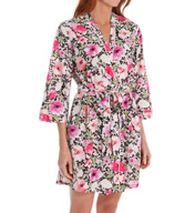 Oscar De La Renta Pleated Petals Wrap Robe 6841002
