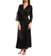 Oscar De La Renta Romantic Affair Charmeuse & Georgette Long Robe 685710