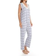 Oscar De La Renta Trellis Print Pajama Set 687955