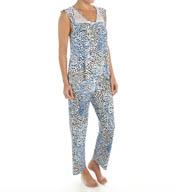 Oscar De La Renta Wild Print Pajama Set 689951
