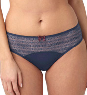 Panache Porcelain Brief with Lace Waist 7992