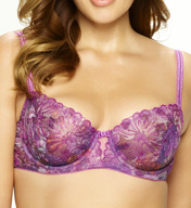 Paramour by Felina Ellie Floral Embroidery on Tulle Unlined Demi Bra 115009