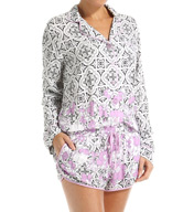 PJ Salvage Luxe Floral Tile Romper FLTROM