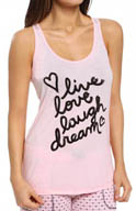 PJ Salvage Giftables Live Love Laugh Dream Sequin Tank NGIFTK2