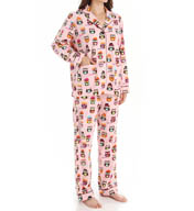 PJ Salvage Fall Into Flannel Owl Friends PJ Set ROWLPJ
