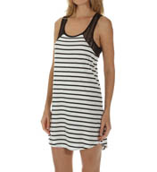 PJ Salvage Cafe Frenchie Stripe Chemise SCAFD