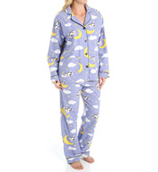 PJ Salvage Fall into Flannel Cow Pajama Set VCOWPJ