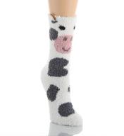 PJ Salvage Fun Plush Cow Socks VFUNSO2