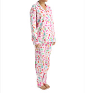 PJ Salvage Fall into Flannel Jelly Bean Pajama Set VJELPJ
