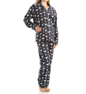 PJ Salvage Fall into Flannel Martini Pajama Set VMARPJ