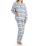 PJ Salvage Fall into Flannel Plaid Pajama Set VSHAPJ