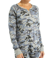 PJ Salvage Vintage Camo Long Sleeve Top VVINLS1