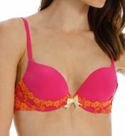 Pretty Polly Lingerie Take the Plunge Embroidered Plunge Push-Up Bra PP111