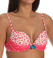 Pretty Polly Lingerie Take the Plunge Printed with Lace Push Up Bra PP316