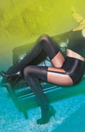 Pretty Polly Suspender Shaper Tights PNARF3
