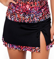 Profile by Gottex Aztec Skirted Brief Swim Bottom 4101P92