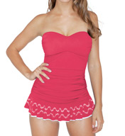 Profile by Gottex Tutti-Frutti Bandeau One Piece Swim Dress 5042047