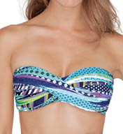 Profile by Gottex Road Trip Twisted Bandeau Swim Top 5051B63