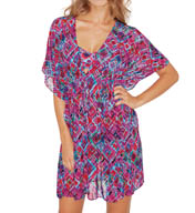 Profile by Gottex Mardi Gras Mesh Tunic Cover Up 5073023