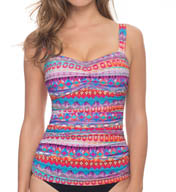 Profile by Gottex Santa Fe D and E Cup Tankini Swim Top 5571D18