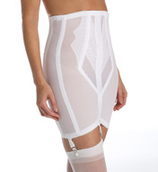 Rago High Waist Open Bottom Girdle with Zipper 1294