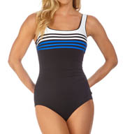Reebok Ship Shape Square Neck One Piece Swimsuit 871341