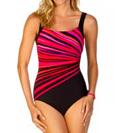Reebok Vanishing Light Square Neck One Piece Swimsuit 871353