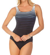 Reebok Sea to Shining Sea Square Neck One Piece Swimsuit 871355