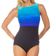 Reebok Heat Wave High Neck One Piece Swimsuit 871365