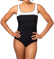 Reebok Sugarcoat Square Neck One Piece Swimsuit 871376