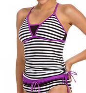 Reebok Sano Andie Mesh Inset Tankini Swim Top 871520