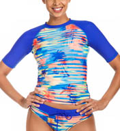 Reebok Trestles Ava Short Sleeve Shirred Rash Guard 871572