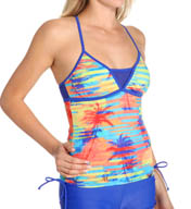 Reebok Trestles Andie Mesh Inset Tankini Swim Top 871573