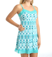 Rhonda Shear Ahh Printed Chemise with Lace 7905