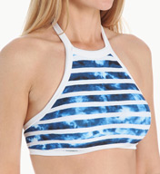 Seafolly Inked Stripe High Neck Tank Swim Top 475676