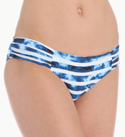 Seafolly Inked Stripe Ruched Side Swim Bottom 66676