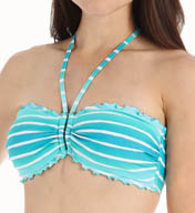 Seafolly Miami Stripe U Tube Bandeau Swim Top - DD Cup MSDD412