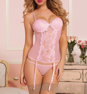 Seven 'til Midnight Veronica Mesh and Lace Underwire Bustier STM9339
